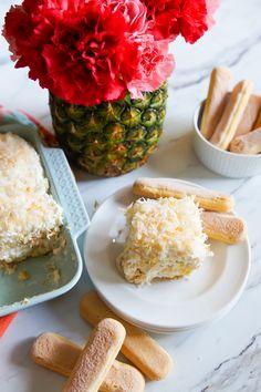 Pineapple Cream Tiramisu // @bakeat350tweets