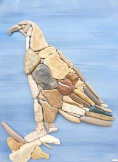 Encantadoras obras de arte hechas con piedras encontradas en la playa | GatoPanda