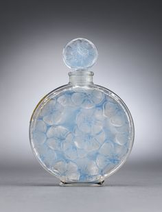 Antique Glass, Lalique Glass, Jardinee Perfume Bottle ~ M.S. Rau Antiques
