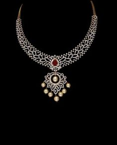 Jewerly diamond indian weddings Ideas for 2019 Real Diamond Necklace, Diamond Pendant Necklace, Diamond Jewelry, Diamond Bangle, Gold Necklace, Diamond Choker, Gold Jewelry, Jewelry Necklaces, Indian Jewelry Sets