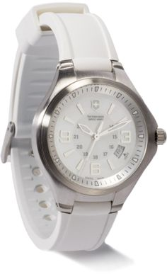 At REI Outlet: Swiss Army Base Camp Watch in unexpected white. Army Base, Swiss Army Watches, Shopping Spree, Michael Kors Watch, Chronograph, Pure Products, My Style, Glitters, Milk