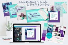 This 8 piece template kit contains everything you need to create a cohesive and beautiful brand for your small business! #branding #Purple #teal #canva Purple Teal, Turquoise Color, Branding Kit, Business Branding, Facebook Cover Template, Sales Tips, Brand Board, Brand Guidelines, Creating A Brand