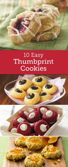 With an endless variety of filling and flavor combinations, it's easy to understand why thumbprint cookies are some of our most favorites to bake! From red velvet to chocolate-mint to raspberry, there(Chocolate Mint Ovens) Cookie Desserts, Christmas Desserts, Christmas Baking, Cookie Recipes, Dessert Recipes, Cake Mix Cookies, Cupcakes, Preschool Cooking, Cookie Time