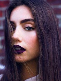 Maquillage d'automne bouche prune #lipslove #darklipstick