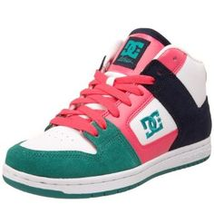 DC Women's Manteca 2 Mid Sneaker,White/Hot Pink,8 M. DC Women's Manteca 2 Mid Skate Shoes take the sweet style of the Manteca 2s and add a high top for ankle support. If you feel like pushing your limits this skating season, the Manteca 2 Mids are your best bet. Protect your ankles while pampering them with collar cushioning. Rely on DC Shoes' trademark Pill Pattern sole to give you excellent traction and flex. Go ahead and go extreme; this shoe is durable from top to bottom.Product…