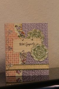 Sympathy card using Spellbinders dies and Graphic 45 Secret Garden paper.