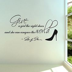 Wall Stickers Wall Decals, Marilyn Monroe High Heels PVC Wall Stickers – USD $ 16.99
