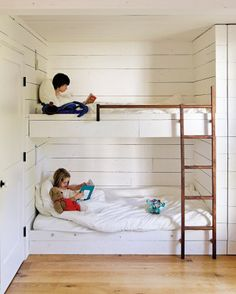 kids' bunk room, rural sauvie island cottage, oregon