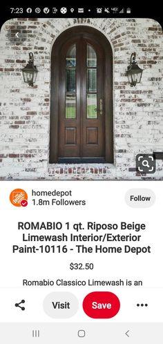 Exterior Paint, Home Depot, Brick, Painting, Ideas, Bricks, Painting Art, Paintings, Painted Canvas