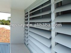 Adjustable customized sized aluminium exterior louver