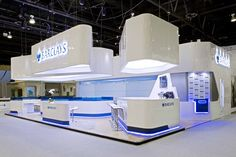 Elegant stand for Barclays at SIBOS designed by Shelton Fleming