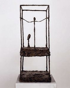 Alberto Giacometti The Cage, first version 1949 - 1950 Bronze x x 34 cm Collection Fondation Giacometti, Paris © Alberto Giacometti Estate by SIAE in Italy, 2014 Alberto Giacometti, Giovanni Giacometti, Gagosian Gallery, Tate Gallery, Social Art, Damien Hirst, Paris Ville, Modern Contemporary, Sculpting