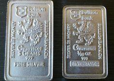 5 gram + 1/10 oz 999 Fine Pure Solid Silver Bar by Bullion Bank  Silver Bar bu