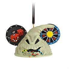 """Tim Burton's Nightmare Before Christmas """"Oogie Boogie"""" Ear Hat Disney Ornament. Costa Alavezos is the artist who created this for Disney. x 3 x 2 Disney Christmas Ornaments, Noel Christmas, Xmas, Christmas Stuff, Halloween Ornaments, Christmas Ideas, Disney Ears Hat, Mickey Ears, Disney Mouse"""