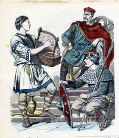 Carolingian Nobles and harpist