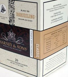 Harney and Sons Darjeeling product design Harney And Sons Tea, Gourmet Gifts, Food Gifts, Darjeeling Tea, Tea Gifts, Tea Packaging, Sachets, Design Design, Autumnal