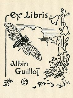 [Bookplate of Albin Guillot] by Pratt Institute Library, via Flickr