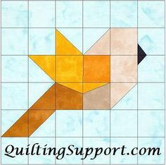 Bird Paper Piecing Foundation Quilting Block Pattern - Patchwork & Quilting at Makerist Paper Pieced Quilt Patterns, Barn Quilt Patterns, Bird Patterns, Patchwork Quilting, Pattern Blocks, Quilting Patterns, Paper Patterns, Pattern Paper, Quilting Designs