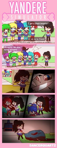 Yandere Comic - Pathetic Yandere by DancerQuartz.deviantart.com on @DeviantArt