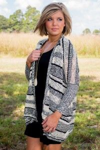 Take You There Cardigan - Black/White/Grey Regular price $28 code: CD10 for 10% off