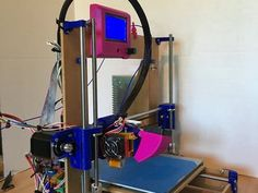 This is a mostly printed 3D Printer very suitable for a hobbyist. It's an easy and cheap way to get into 3D printing.  By John Weers.