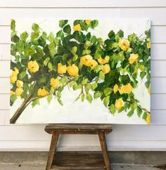 Melissa Lyons Fine Art and Home Goods – Melissa Lyons Art Tree Canvas, Canvas Art, Painting Inspiration, Art Inspo, Lemon Painting, Watercolor Paper Texture, Art Painting Gallery, My Art Studio, Guache