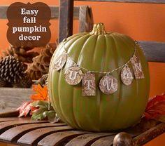Festive autumn pumpkin craft - very easy and unique fall decor