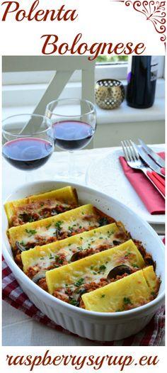 Ultimate Comfort Food - Polenta Bolognese by raspberrysyrup.eu Polenta, Raspberry Syrup Recipes, Recipe Box, Cooking, Tableware, Food, Self, Bolognese, Kitchen