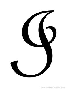 Print Free Large Cursive Letter I. Letter I in Cursive Writing for Wall Hangings or Craft Projects. Cursive Letter I Cutout on Full Sheet of Paper.