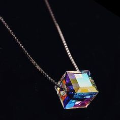 Cheap pendants for women, Buy Quality collar necklace directly from China cube necklace Suppliers: imixlot Lady Collar Necklace Collier Femme Christmas Gift Jewelry Women Austrian Crystal Cube Necklaces & Pendants for Women Crystal Pendant, Crystal Necklace, Pendant Jewelry, Pendant Necklace, Chain Necklaces, Diamond Pendant, Necklace Types, Collar Necklace, Collier Simple