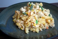 Cheesy Chicken Pasta  Slightly cheesy but still very light, this recipe packs in lean ground chicken, healthy veggies and just enough creamy...