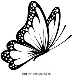butterfly tattoo drawing designs tribal tattoos outline simple stencil clip clipart freetattoodesigns own