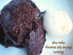 If you thought your slow cooker was just for savoury dishes, then think again. This is Chocolate Self-Saucing Pudding super easy and delicious! Chocolate Sponge Pudding, Self Saucing Chocolate Pudding, Self Saucing Pudding, Chocolate Olive Oil Cake, Chocolate Lava Cake, Hot Desserts, Crock Pot Desserts, Crock Pot Slow Cooker, Slow Cooker Recipes