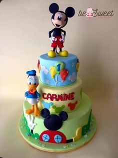 Torta Topolino/Mickey Mouse and Donald Duck - Cake by BeSweet