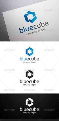 Blue Cube Logo  #GraphicRiver        Description Blue Cube Logo is a multipurpose logo.