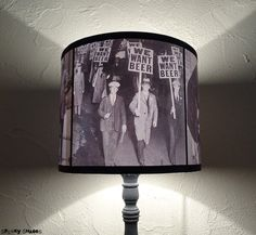 Prohibition era black and white accent lamp shade lampshade