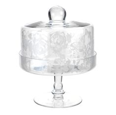 Make your cakes even more irresistible by presenting them in this etched glass cake dome. Who could possibly say no? Priced at £15.