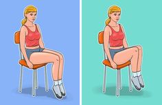 7Ejercicios para unabdomen plano yuna cintura deavispa, que puedes hacer sin levantarte delasilla Exercise While Sitting, Rectus Abdominis Muscle, Chair Exercises, Thin Waist, Waist Workout, Abdominal Exercises, Weight Loss Help, Lose Weight, Going To The Gym