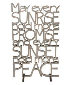Look at this #zulilyfind! 'Every Sunrise' Word Wall Sign #zulilyfinds