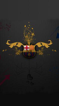 File attachment for Apple iPhone 6 Plus HD Wallpaper - Artistic Barcelona FC Logo in dark background