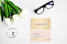 Gold Business Card Design Pink Golden Business di AYAKAstudio
