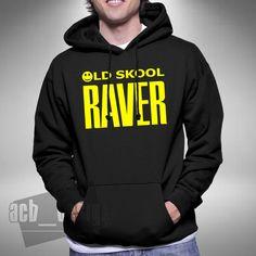 a7d68e5dbfb OLD SKOOL RAVER HOODIE Various Sizes   Colours Clubbing Dj Rave Retro Dance  Color Club