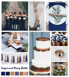 12 Amazing Blue Sapphire And Bronze Wedding Decor Gallery Bronze Wedding Theme, Bronze Wedding Decorations, Navy Wedding Colors, Copper Wedding, Wedding Color Schemes, Wedding Themes, Fall Wedding, Wedding Ideas, Navy Wedding Favours