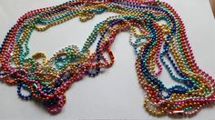 9 assorted colors metal bead chains Jewelry by MadeByMargPlus