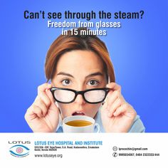 15 minute Solution from your Spectacle Life = 's first Laser Vision Correction, Stop Hair Loss, Grow Hair, Cool Eyes, Kerala, Advertising, Smile, Glass, Growing Out Hair