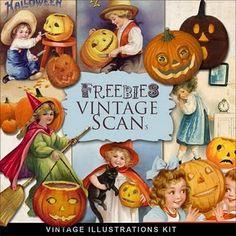 Free VIntage Halloween Pics! http://farfarhill.blogspot.com/2011/09/new-freebies-vintage-vignettes-kit.html
