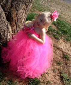 Pink Blooming Halter Tutu Dress