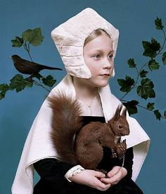 Portrait after A Lady with a Squirrel and a Starling, Hans Holbein the Younger