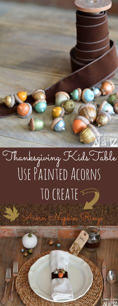 Kids' #thanksgiving #tablescape idea. Easy peasy.