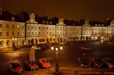 Lublin Old Town by Night by Tomasz Dziubinski - Photography My Kind Of Town, Unique Architecture, Night Photos, Best Cities, Night Photography, Homeland, Old Town, Night Life, Medieval